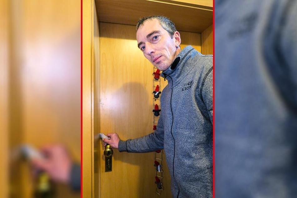 Lars Merkel (44) öffnete die Tür seiner Nachbarin mit einer Rabattkarte und rettete so ihre Kinder vor dem Feuertod.