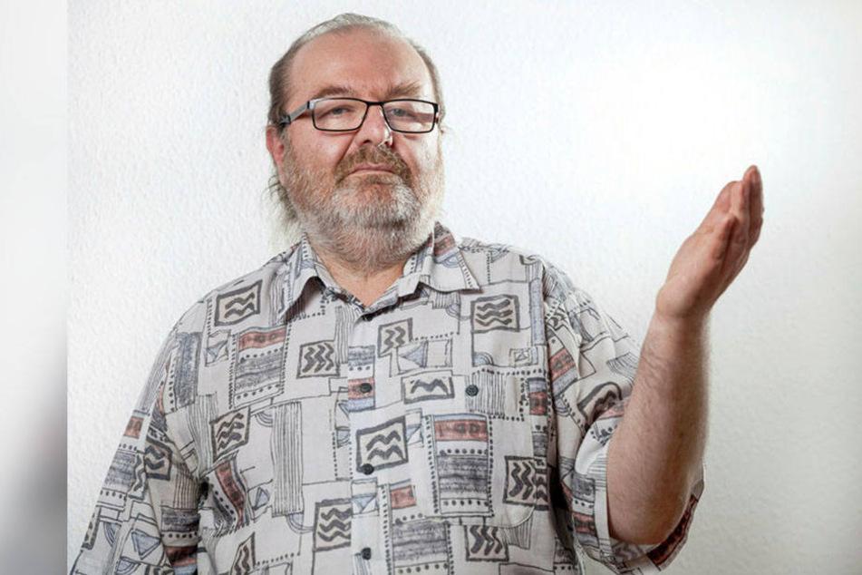 Linken-Stadtrat Thomas Scherzberg (54) kann sich für Claus Kellbergers (75) Parkhauspläne erwärmen.