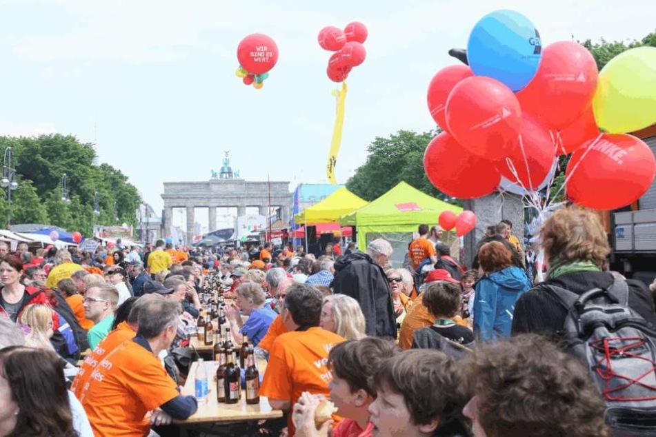 Rund ums Brandenburger Tor veranstaltet der Deutsche Gewerkschaftsbund (DGB) wieder ein Fest für die ganze Familie.