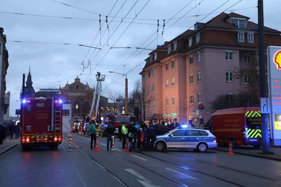 In der Leipziger Straße geht nichts mehr.
