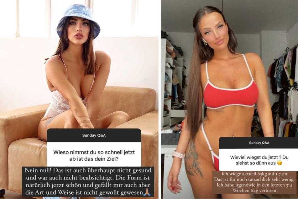 Paulina Ljubas (24) beantwortet in einer Instagram-Story Fragen zu ihrem Gewicht. (Fotomontage)