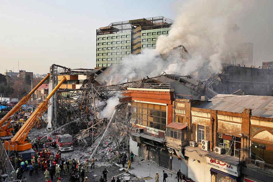 Am Donnerstag war in Teheran ein Einkaufsgebäude eingestürzt.