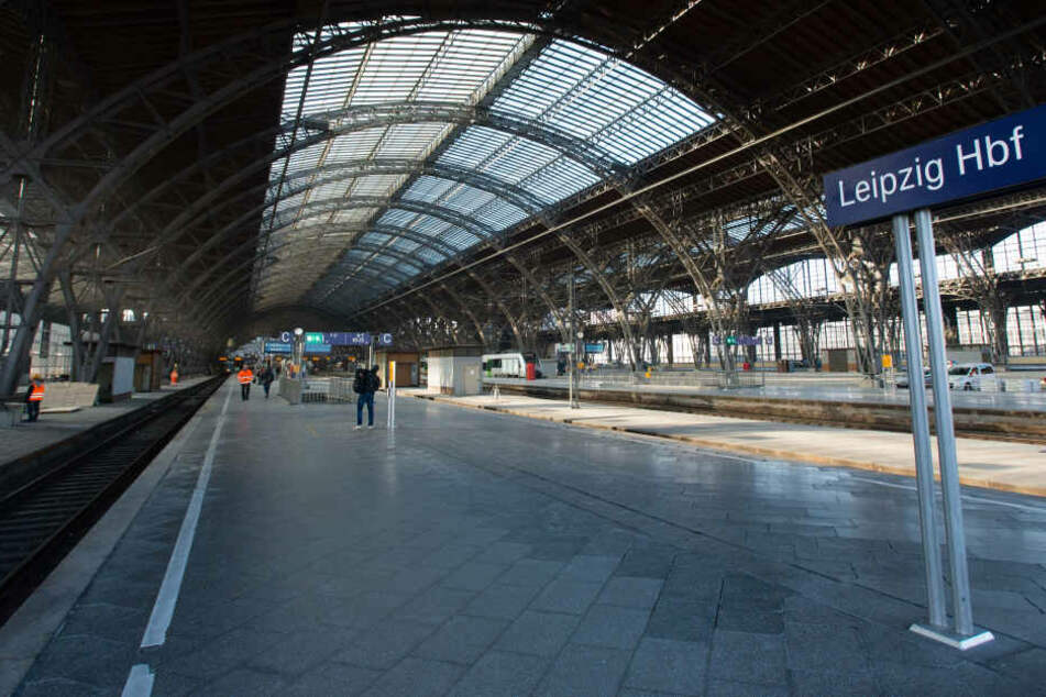 Der Leipziger Hauptbahnhof wird ab Mittwochmorgen voll gesperrt.