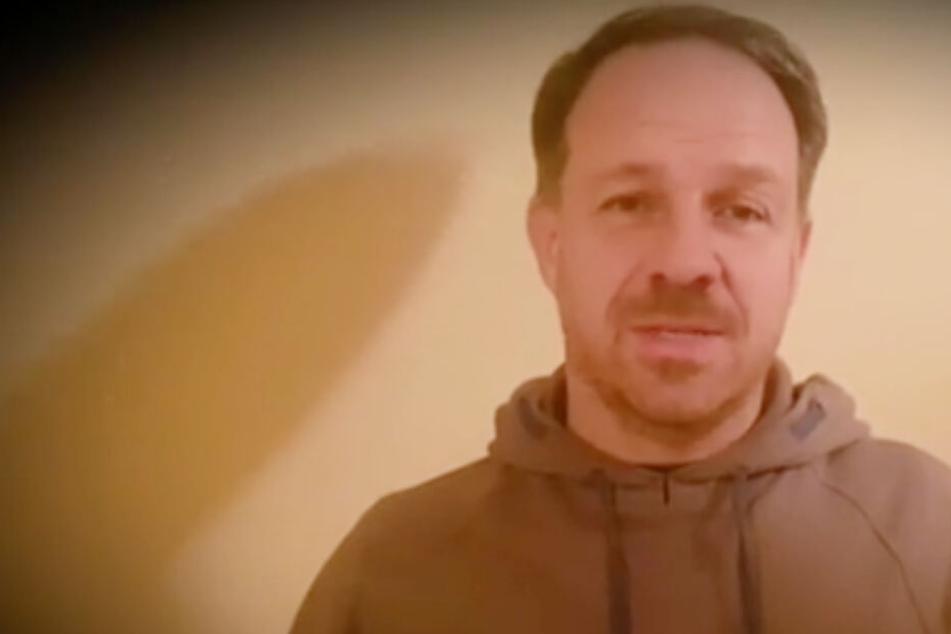 Alex Zorniger in seiner Video-Ansprache.