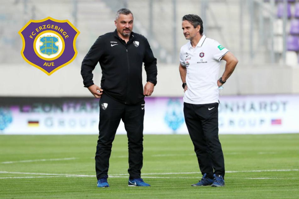 """Aue-Coach Schuster: """"Mit der Leistung bin ich zufrieden, mit dem Ergebnis überhaupt nicht"""""""