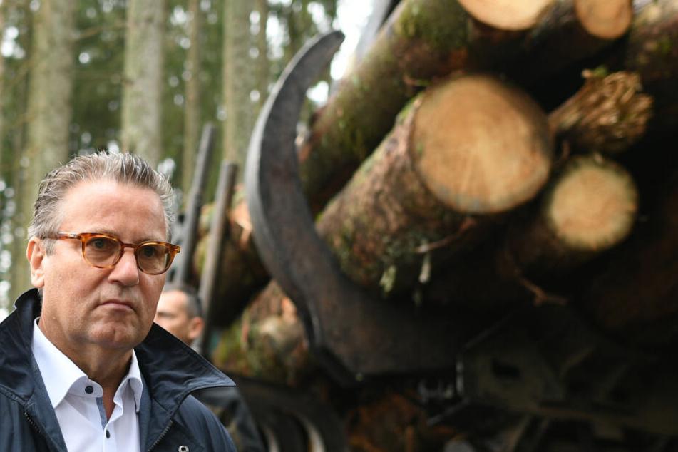 Forstminister Perter Hauk (CDU).