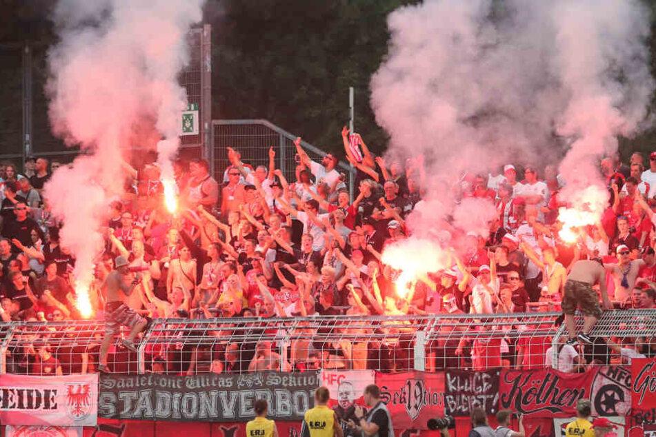 Das Spiel Halle gegen Rostock wurde abgesagt.