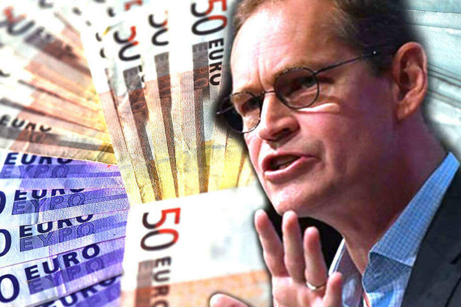 Berlins SPD-Landeschef Michael Müller (53) will mehr Mindestlohn und ein solidarisches Grundeinkommen. (Bildmontage)