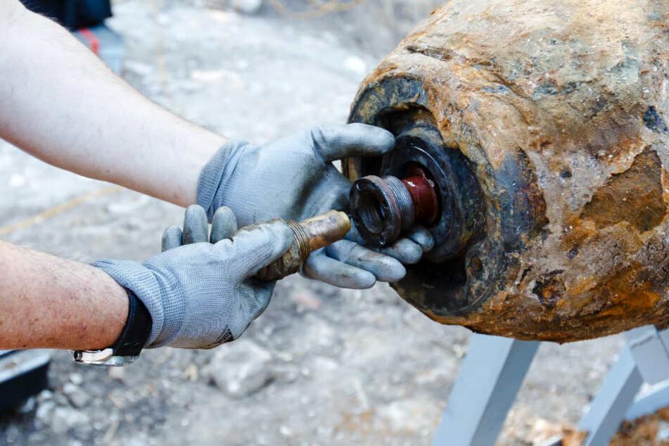 In Frankfurt am Main werden immer wieder Bomben aus dem Zweiten Weltkrieg gefunden und unschädlich gemacht (Symbolbild).