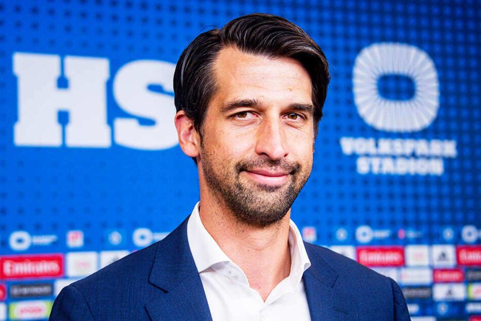 Der neue HSV-Sport-Vorstand Jonas Boldt sprach zuerst.