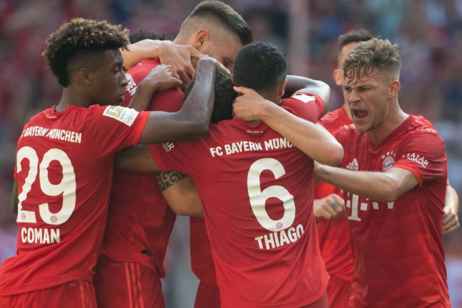 Sechs Tore des FC Bayern München durften die Fans in der Allianz Arena bejubeln.