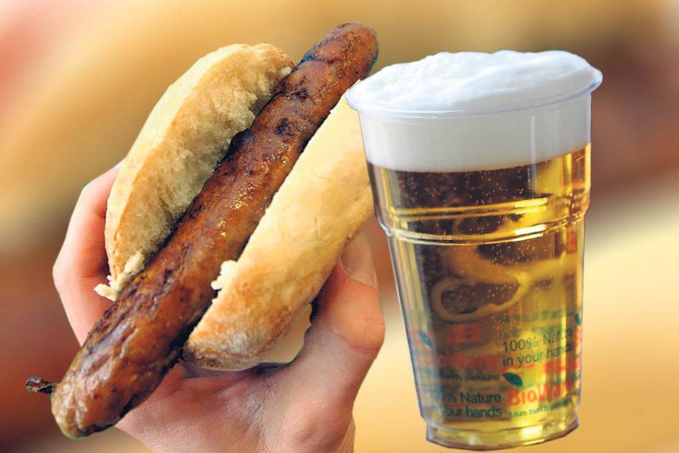 Beim Essen hört der Spaß auf. Bis zu 30 Minuten mussten Fans auf Roster und  Bier warten. Der Caterer verspricht Besserung.