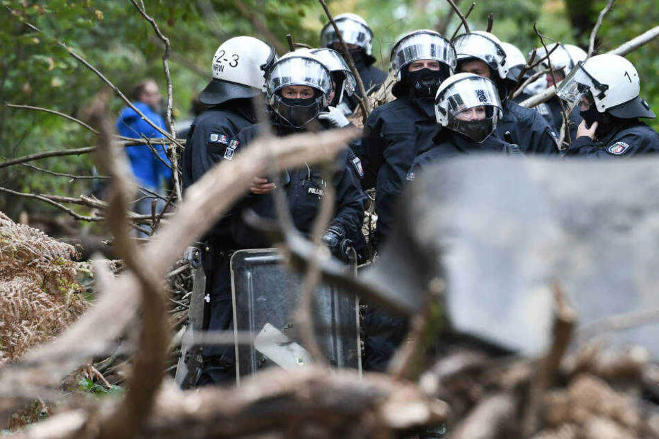 Die Polizei hatte gemeldet, dass es bei dem Einsatz am Mittwoch keine Störungen gegeben habe.