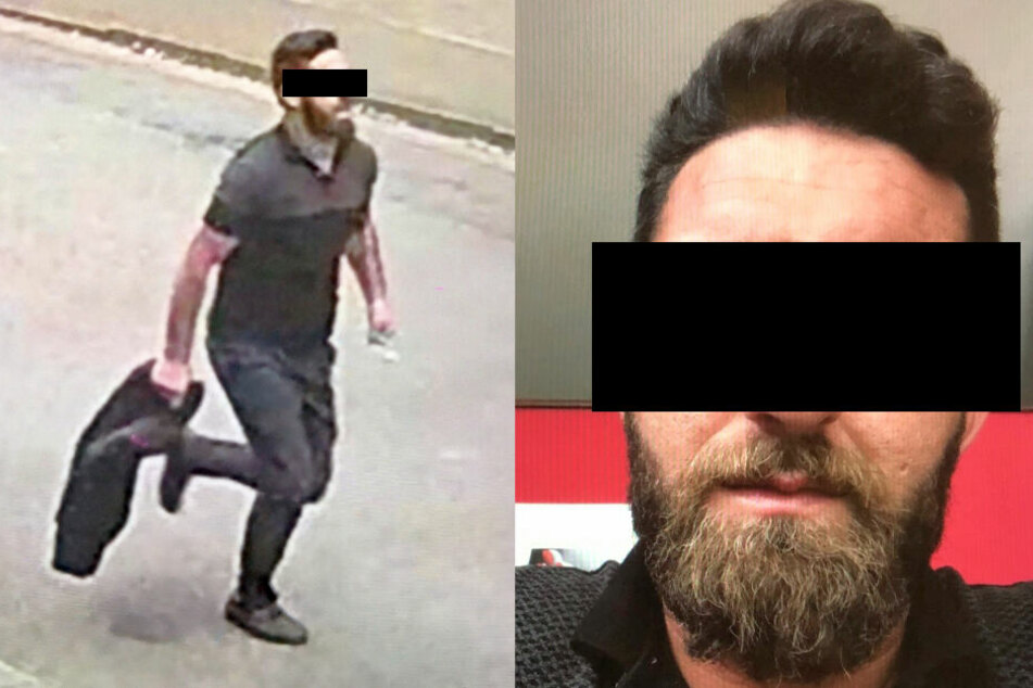 Die Polizei fahndete mit diesen Fotos nach dem Tatverdächtigen.