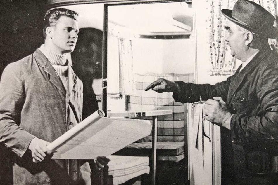 Firmengründer August Richard Nagetusch (r.) mit seinem Sohn Manfred, der 1963 aus der DDR flüchtete.