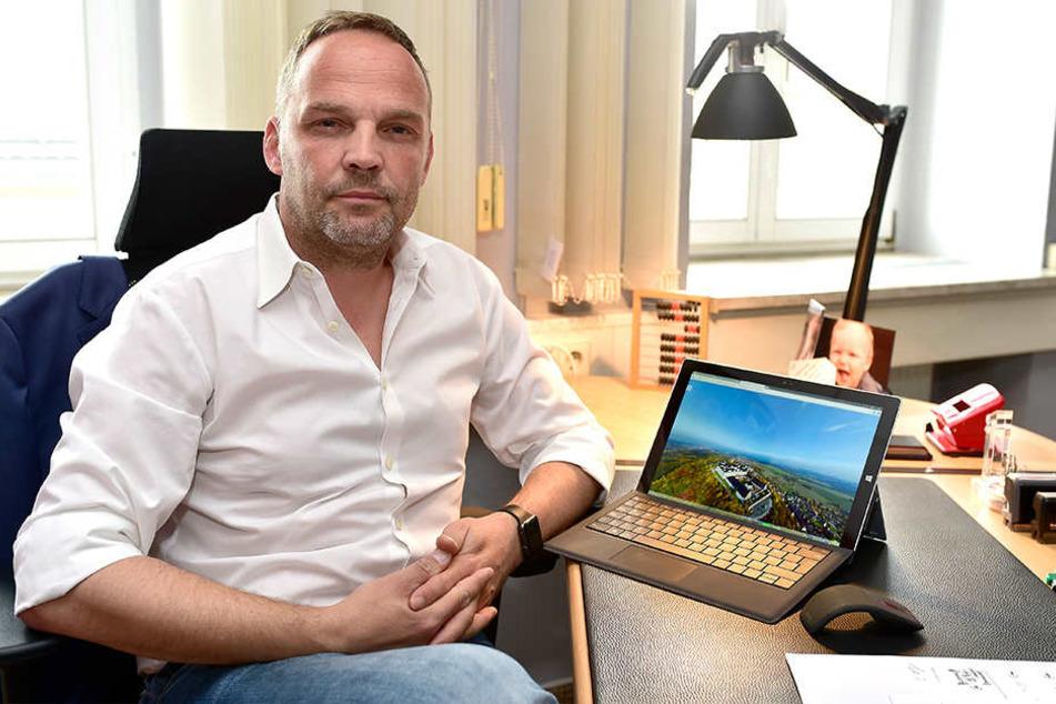Bürgermeister Dirk Neubauer die Bürger entscheiden, wofür in Augustusburg Geld ausgegeben werden soll.