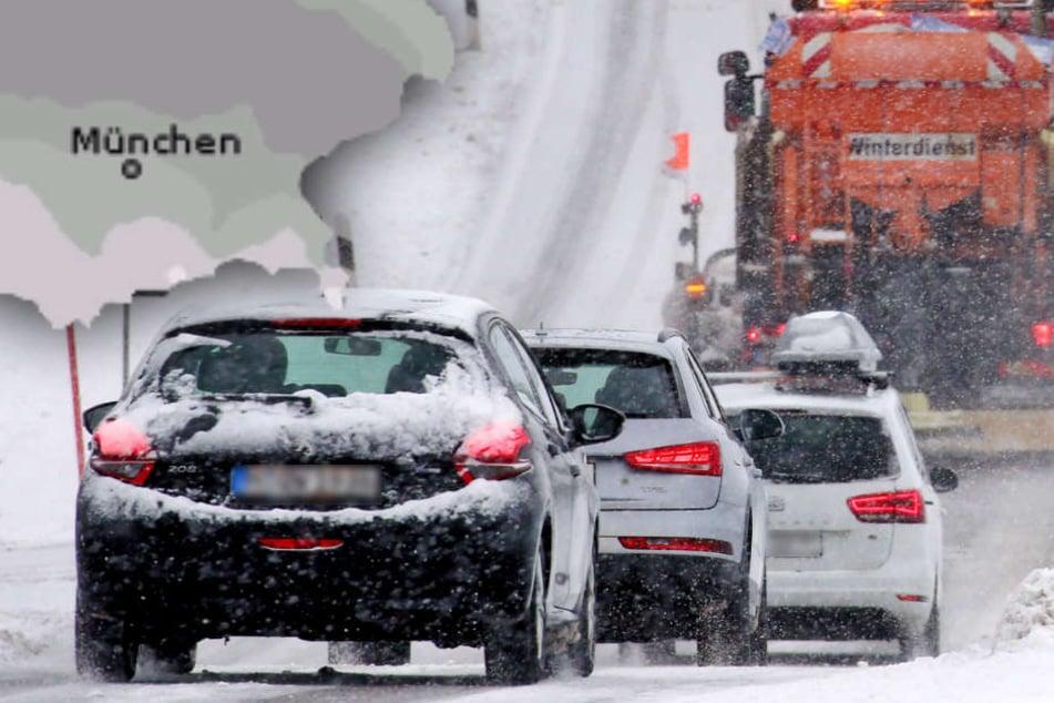 Flugausfälle, Bahn-Sperrungen, glatte Straßen: Schnee hat Bayern fest im Griff