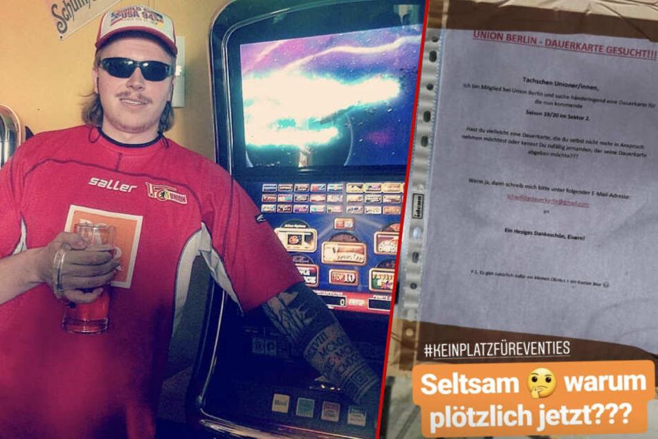 Finch Asozial ist glühender Anhänger vom 1. FC Union Berlin und verabscheut Fans, die derzeit auf den eisernen Fan-Zug aufspringen wollen. (Bildmontage)