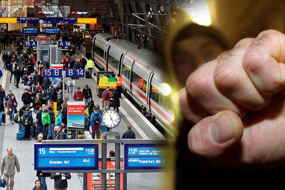 An Bahnhöfen und Zügen in Sachsen, Sachsen-Anhalt und Thüringen kommt es zu immer mehr Gewalt. (Symbolbild)