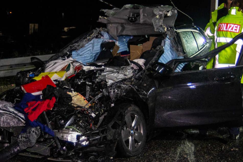 Der Fahrer des Wagens hatte keine Überlebenschance.