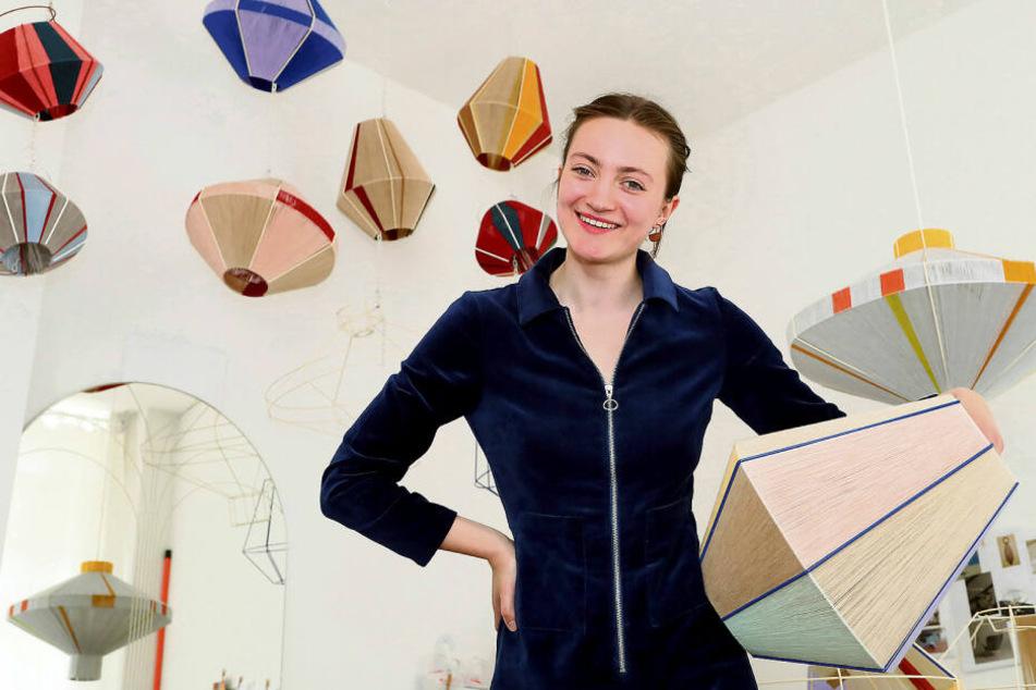 Jane aus Leipzig gibt ihren Lampen Namen und verkauft sie in die ganze Welt