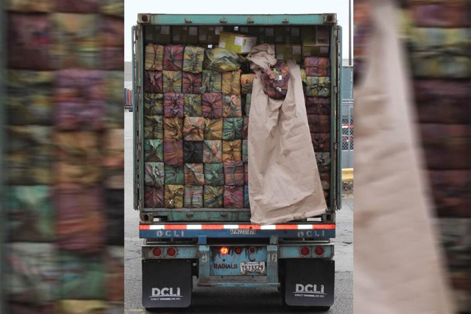 Die Drogen waren in 60 Paketen verpackt.