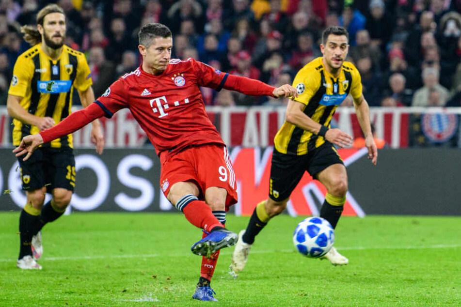 Robert Lewandowski erzielte für den FC Bayern München die Führung per Elfmeter.