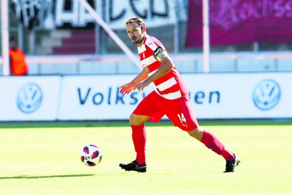 Läuft am Samstag ein letztes Mal für den FSV in einem Punktspiel auf: Toni Wachsmuth. Sein Karriere-Abschluss ist das Pokalfinale eine Woche später in Chemnitz.