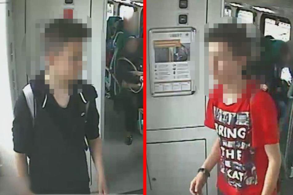 Fast entgleist: Bahn-Bubis stellen sich mit Schock-Motiv der Polizei