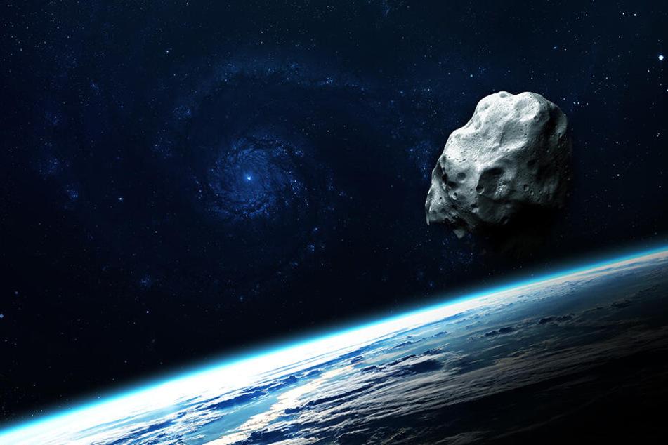 Asteroiden nähern sich immer wieder unserem Planeten. (Symbolbild)