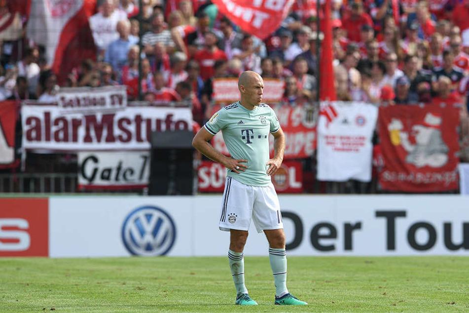 Sein Tag war es nicht: Arjen Robben sah die Gelbe Karte, hatte wenig nennenswerte Aktionen und wurde nach 52. Minuten ausgewechselt.