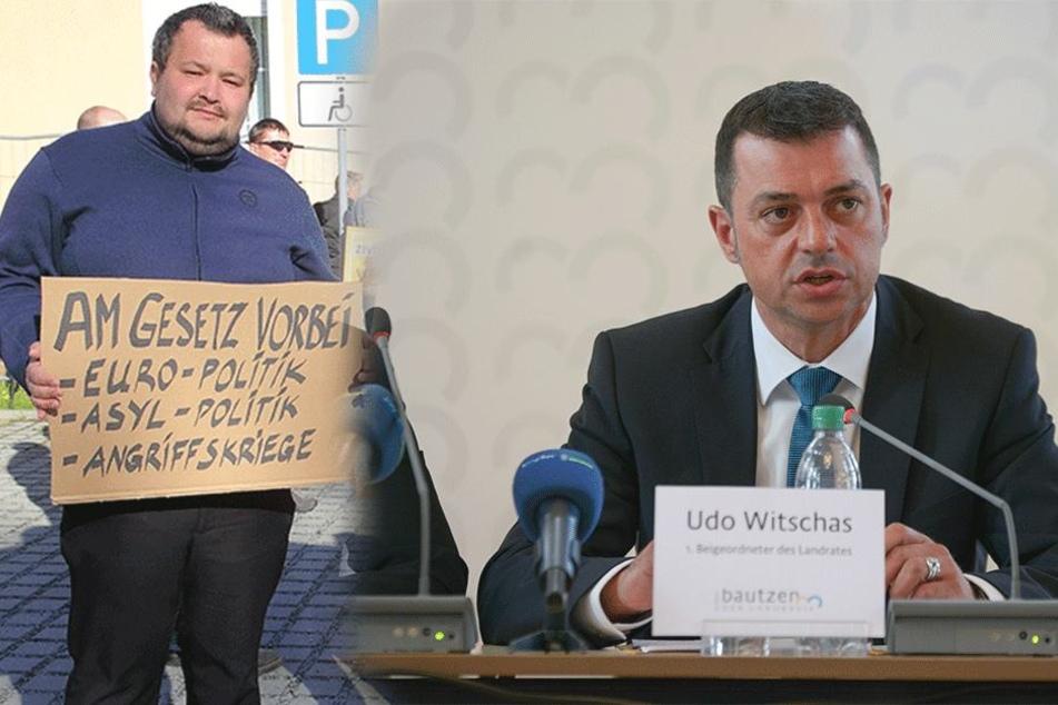 Udo Witschas (45, CDU), Vize-Landrat im Kreis  Bautzen (rechts).     NPD-Kreis-Chef Marco Wruck (32)  steht namentlich im Verfassungsschutz-Bericht (links).
