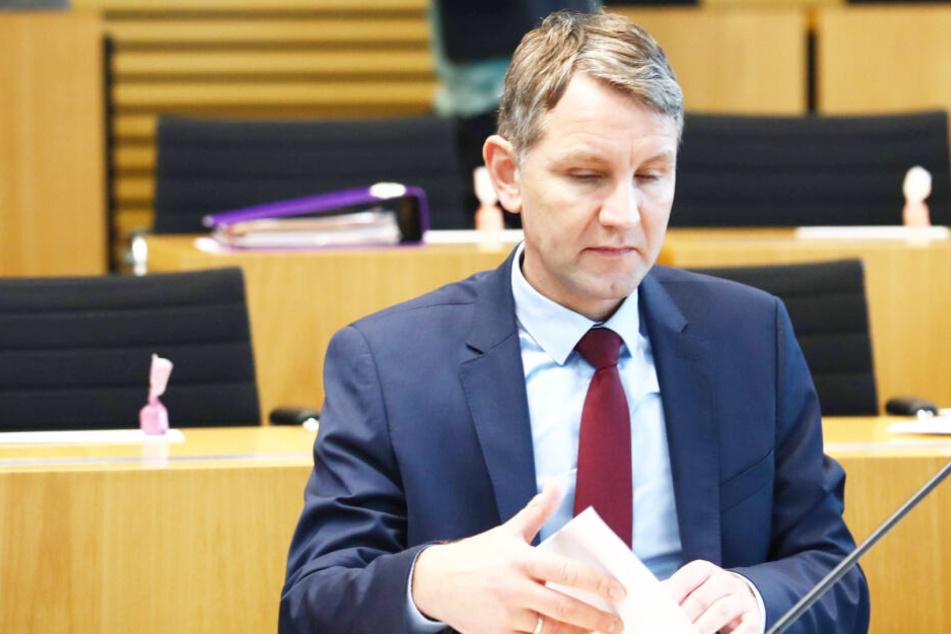 Björn Höcke im Plenarsaal des Thüringer Landtags.