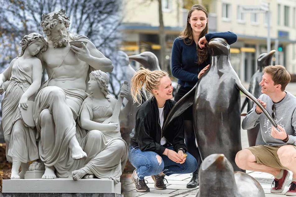 Achtet auf die Figur! Wer kann folgende sieben Chemnitzer Skulpturen richtig zuordnen?