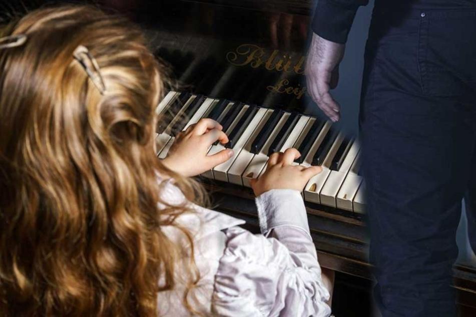 Ein sechsjähriges Mädchen soll von ihrem Klavierlehrer während des Unterrichts missbraucht worden sein (Montage/Symbobild).