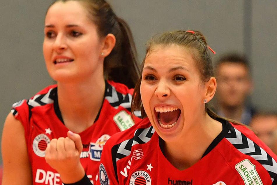 Riesenjubel bei Eva Hodanova und Sasa Planinsec. Der DSC-Sieg war klar und verdient.