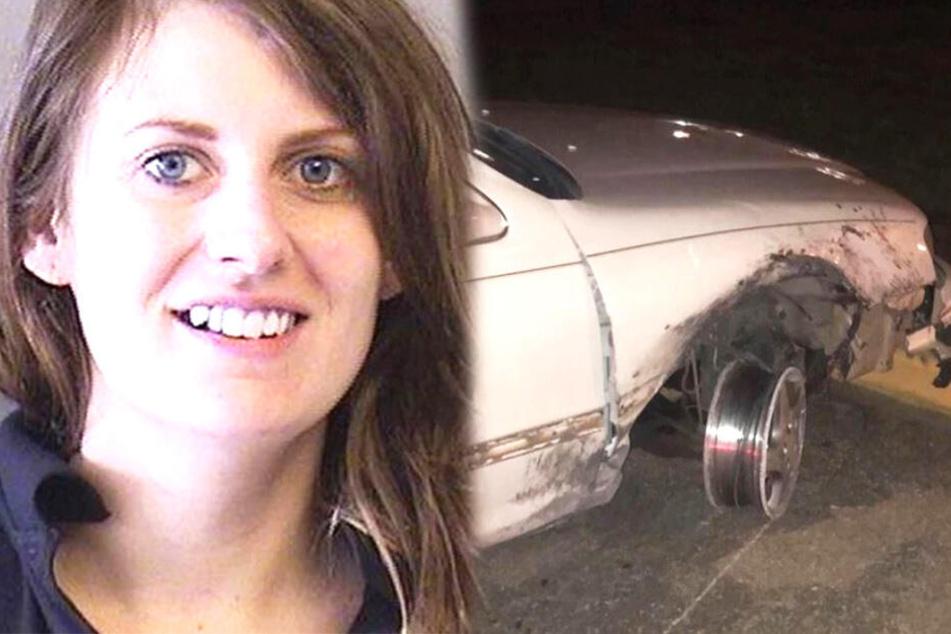 Polizisten können nicht fassen, was im Getränkehalter des Autos einer Frau steckt