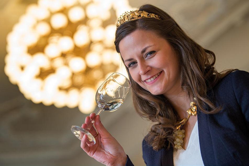Sachsens Weinkönigin Friederike Wachtel (28).