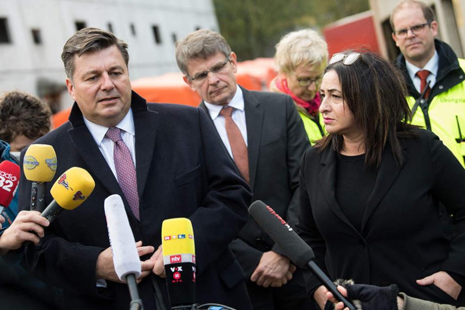 Berliner Innensenator Andreas Geisel (links) äußerte sich zu den Vorwürfen.