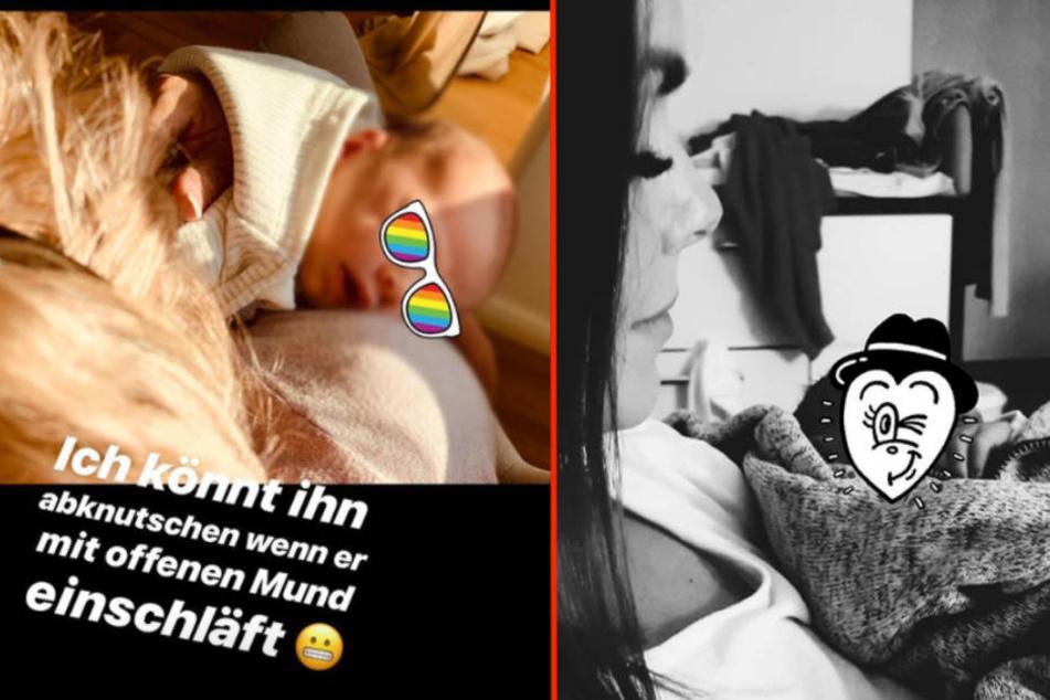 Noch zeigt Denise Kappès (28) das Gesicht von Söhnchen Ben-Matteo nicht bei Instagram. (Bildmontage)