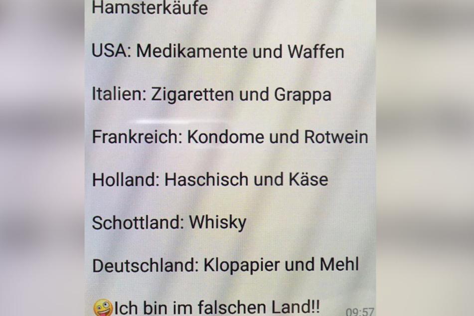 Diese Liste teilte der Schauspieler auf Instagram.
