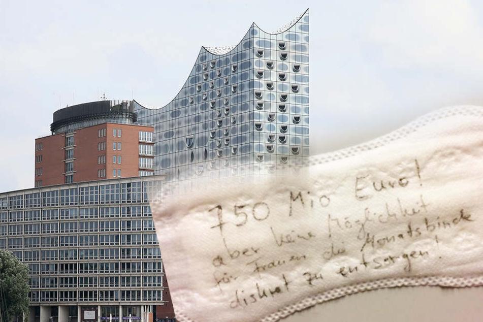 750 Mio Euro, aber kein Geld fürs Klo! Frau schreibt ihren Frust auf Damenbinde