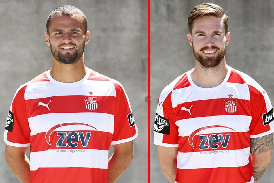 Fabian Eisele (l.) hat den FSV verlassen, Bryan Gaul (r.) fällt länger aus.