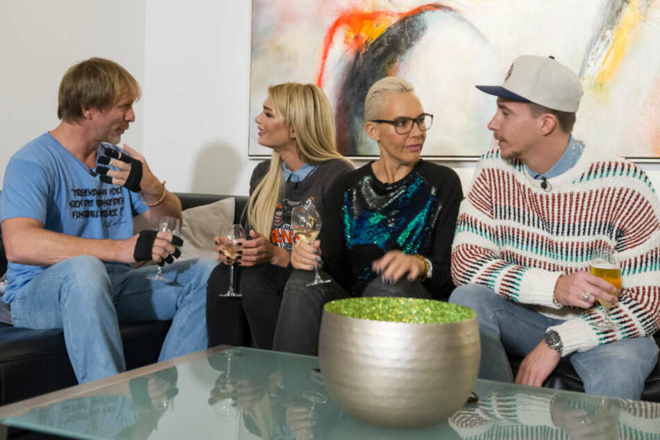 Am Sonntagabend duellieren sich Ansgar Brinkmann (48, v.l.), Giuliana Farfalla (21), Natascha Ochsenknecht (53) und David Friedrich (28) am Herd.