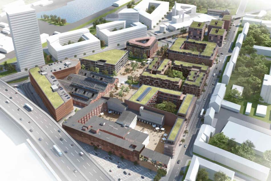 Das riesige geplante Cologneo Quartier in Köln-Deutz gliedert sich in drei Teile.