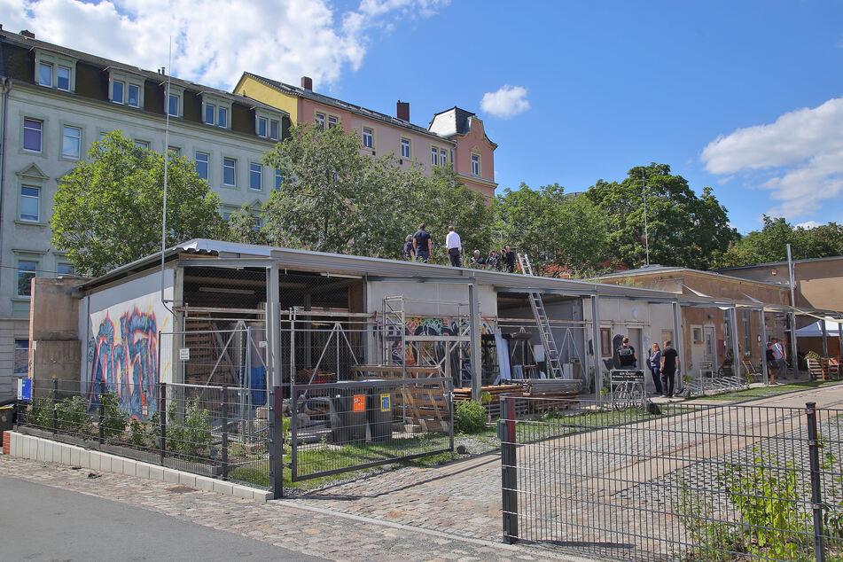 In dem neuen Park werden auch die Gebäude begrünt.