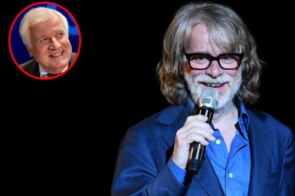 Politiker wie Horst Seehofer taugen einfach nicht als Stoff für Satire, sagt Helge Schneider. Dafür seien sie selbst viel zu sehr Komiker.