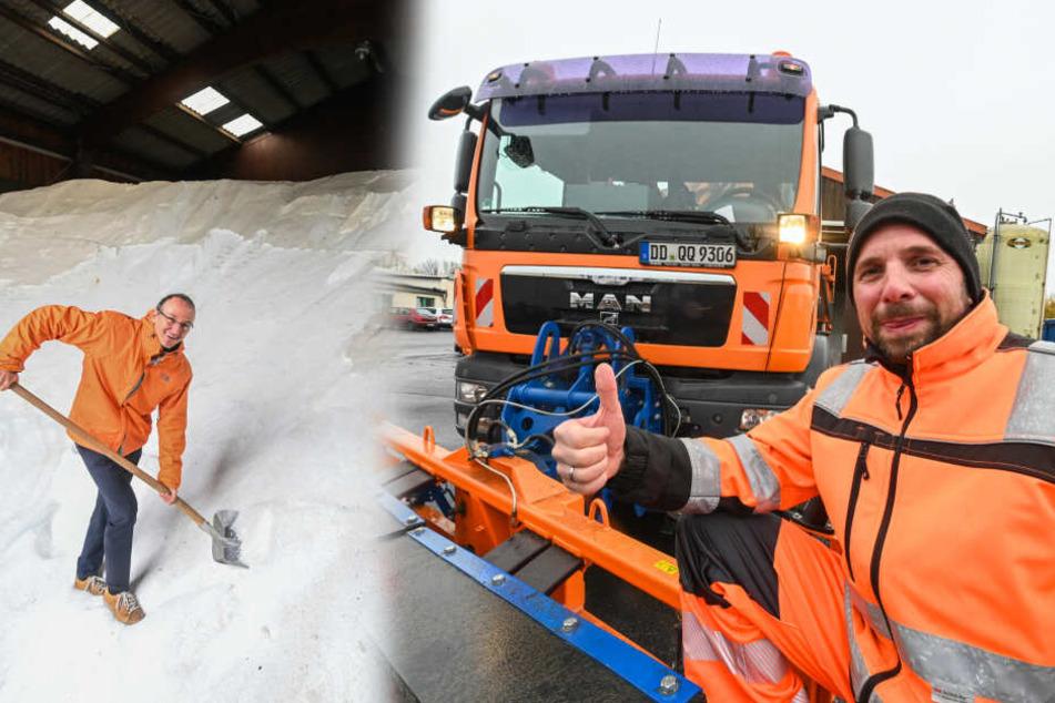 Dresden: Dresdner Winterdienst bereit: 4000 Tonnen Salz sollen es richten