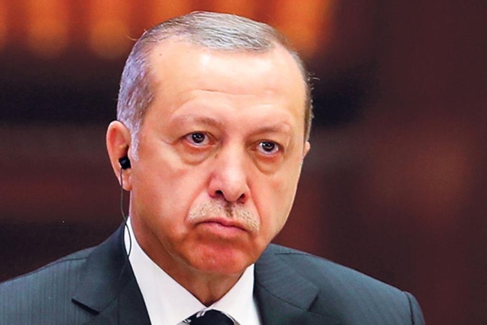 Der Präsident der Türkei Recep Tayyip Erdogan (63).