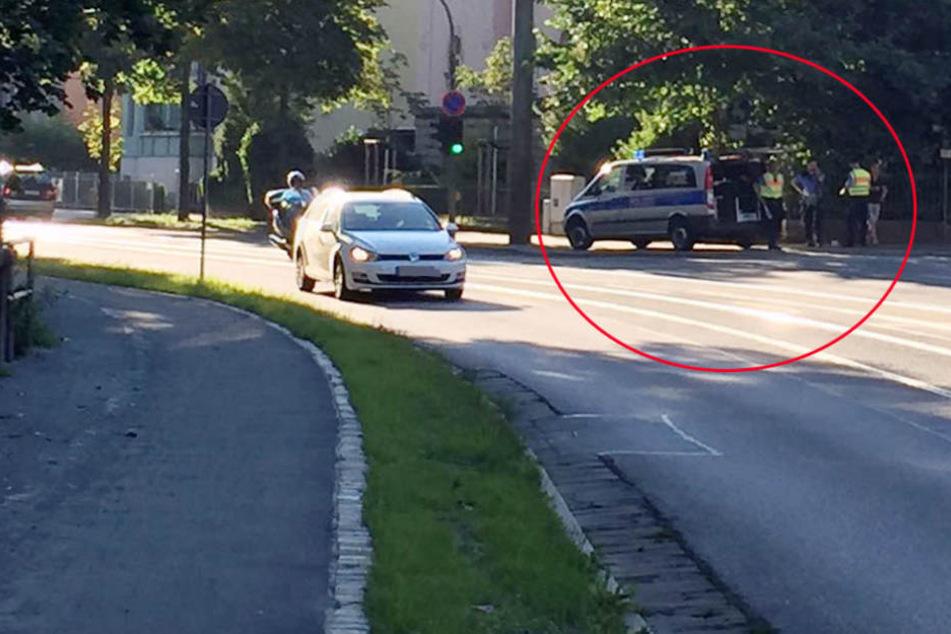 An der Wilhelminenstraße in der Radeberger Vorstadt stand der Laser, der die Raser auf der Bautzner Straße erwischte.